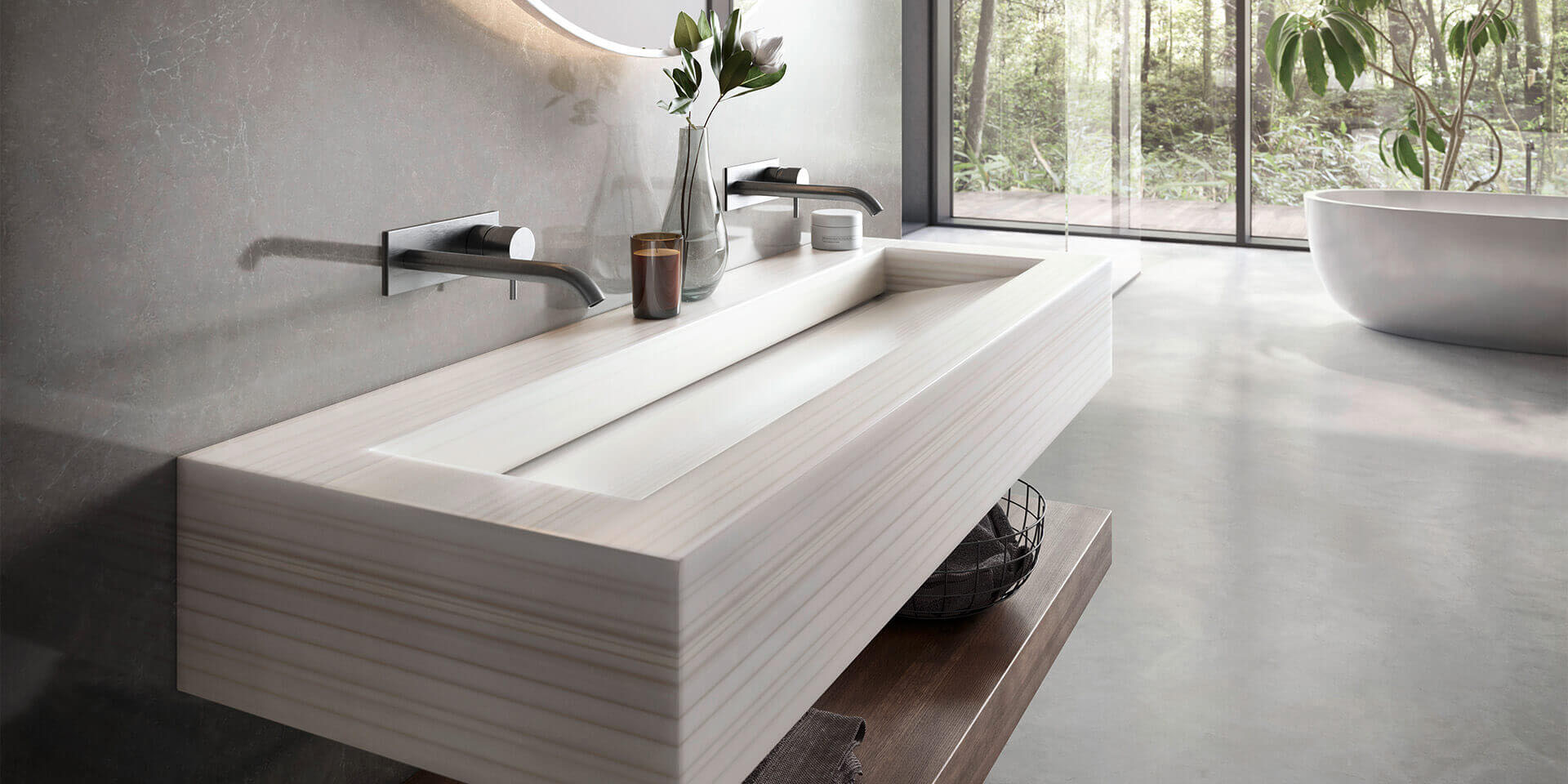 solid surface vanity counter